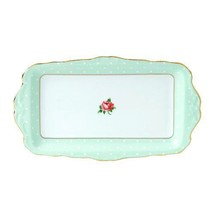 ROYAL ALBERT Polka Rose Formal Vintage Rectangular Serving Tray NEW - $46.74