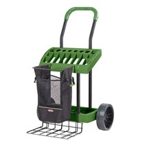 Garden Beautification Tool Yard Tool Box with Wheels and Removable Harve... - $104.46