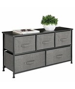 mDesign Extra Wide Dresser Storage Tower - Sturdy Steel Frame, Wood Top,... - $110.25