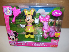 NEW DISNEY JUNIOR MINNIE MOUSE PLAYTIME PONY FIGURE POLKA DOT PONIES FP - $12.05