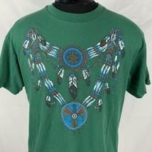 Vintage Navtive American T Shirt Single Stitch Tee Native 90s USA Large ... - $19.40
