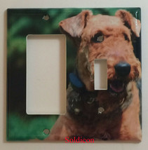 Airedale Dog Light Switch Power Outlet wall Cover Plate Home decor All size image 5