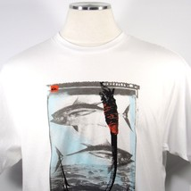 Quiksilver Waterman Collection Men's S/S T-Shirt Fishing Hook White Size Large - $18.00