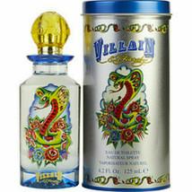 Ed Hardy Villain da Christian Audigier 124ml EDT Spray per Uomo Nuovo in Scatola - $29.43