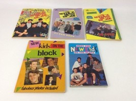 New Kids on The Block Golden Books Puzzle Book Trivia Lot of 5 Vintage 1... - $25.79