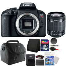 Canon EOS Rebel T7i / 800D 24.2MP DSLR Camera with 18-55mm and 16GB Acce... - $812.65