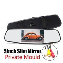 5 Inch Car Mirror Monitor - 4:3 Ratio, 800x480 Resolution, 2 Video Input - $59.99