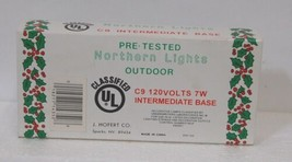 J Hofert 1435 Clear C9 Northern Lights Christmas Lamps 4 Bulbs Packaged image 2