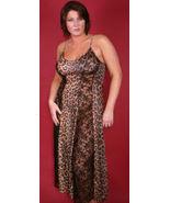 Animal Print w/Black Lace Panels 4X Long Nightgown 2 Styles - $23.50
