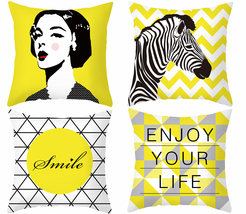 18×18,Pillow cover yellow,throw pillow case,square decorative cushion co... - $31.99