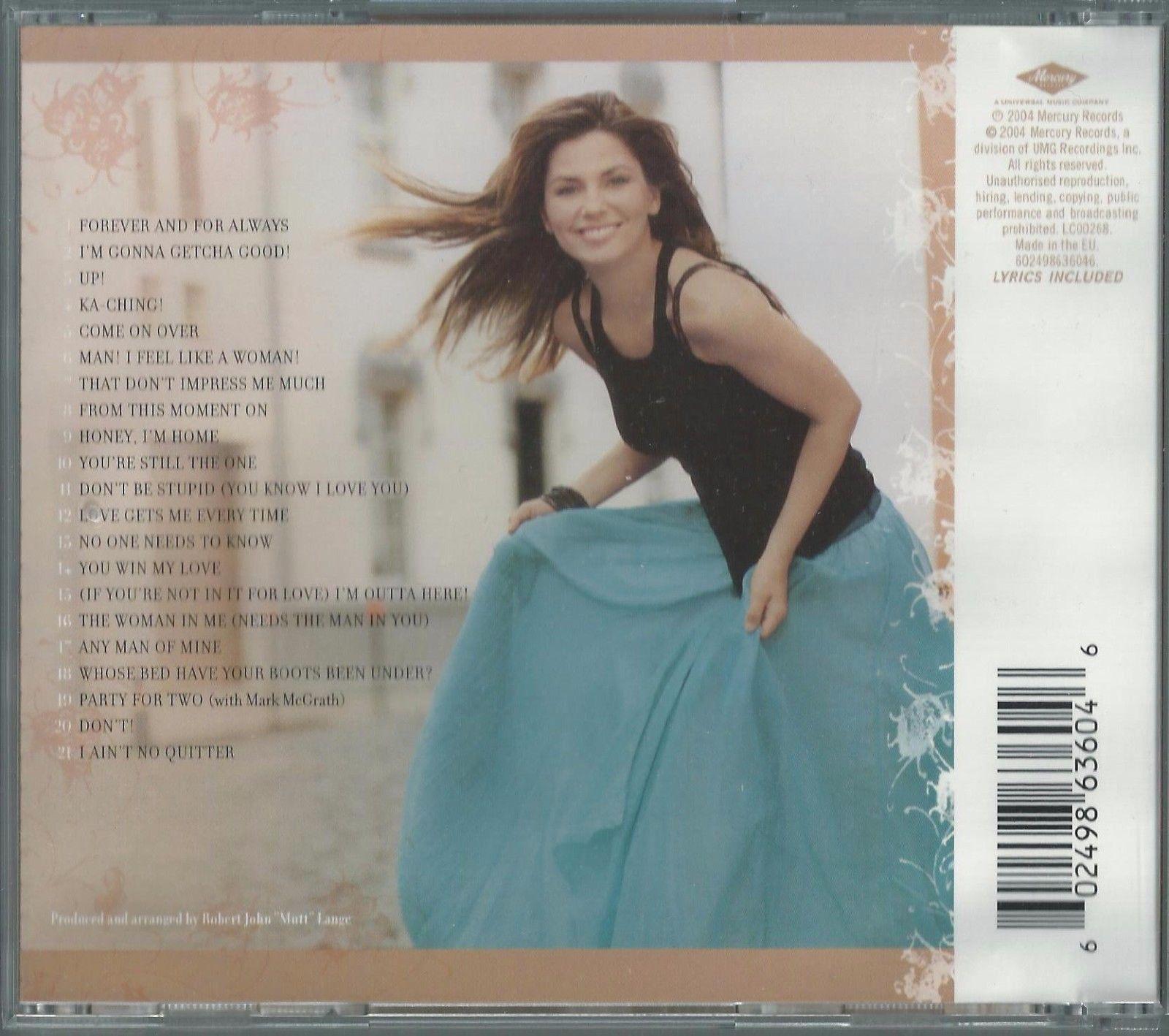SHANIA TWAIN - GREATEST HITS 2002 EU CD COMPILATION ALBUM