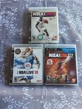 NBA 2K8 NBA Live 10 & NBA 2k12 Basketball PlayStation 3 Ps3 Lot - $11.28