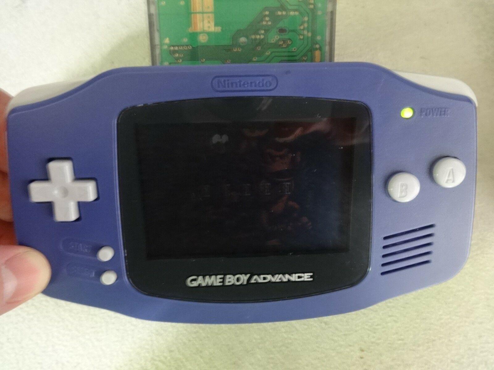 Getestet Voll Nintendo Game Boy Advance - Original - Blau Modell Agb-001 +
