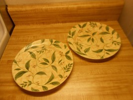 corelle plates yellow background with green leaves - $18.95