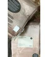 West Elm Set 2 Cotton Velvet Luster Drape Dusty Blush 48x96L Blackout Cu... - $248.00