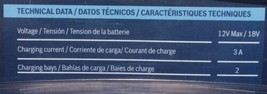 BOSCH GAX1218V 30 Lithium Ion Battery Charger 12V Max 18V No Battery image 2