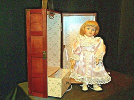 12 inch Porcelain Doll with her Own Closet AA-191991  Collectible image 2