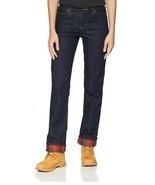 NWT Carhartt Women's Original Fit Blaine Flannel Lined Jean, Size 16 Reg... - $49.49
