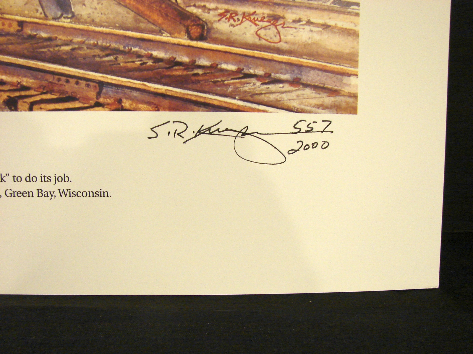 National Railroad Museum Signed , Numbered Print (2013 ) by Steve Krueger