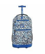 "20"" Wheeled Rolling Backpack Luggage Travel Suitcase Carry On Geometric ... - $77.70"