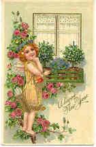 Happy New Year  Paul Finkenrath of Berlin 1910 Post Card - $7.00