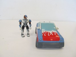 bandai teen titans go! 2004 cyborg and turbo mobile - $19.79