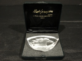 Målerås Glasbruk Crystal Wild Horse by Mats Jonasson Signed / Presentati... - $20.00