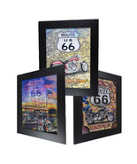 3 Dimension 3D Lenticular Picture US Route 66 Highway Motor Bike Mother Road - $19.79