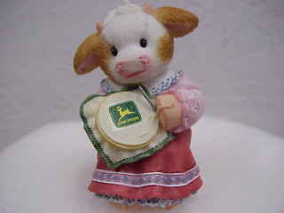 Mary's Moo Moos John Deere Girl~Stitched with Love Enesco