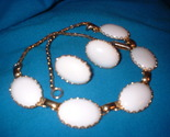 White plastic necklace and earrings set front thumb155 crop