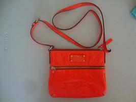 Kate Spade Neon Orange patent Leather crossbody handbag Cute  - $46.52