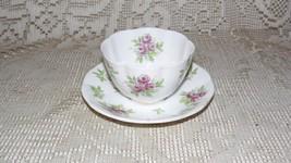 ROYAL ALBERT ENGLAND BONE CHINA TEA CUP AND SAUCER PINK ROSES DESIGN - $14.84