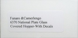 Funaro F&C HO National Plate Glass  covered hopper, kit 6370 image 3