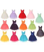 KiKi Kids Chiffon Double V Neck Flower Girl Dress, Made in USA - 14 Colors - $29.99