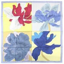 Hermes Carre 90 Scarf Stole Etude pour un Iris Arc-en-ciel Floral Silk A... - $595.47