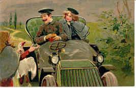 Lovers Get a Goose Paul Finkenrath of Berlin 1906 Post Card - $7.00