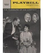 "Longacre Theatre Playbill ""THE PLEASURE OF HIS COMPANY"" May 18, 1959 - $3.00"