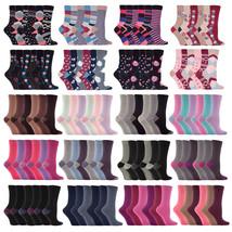 Jennifer Anderton - 6 paires femme chaussettes coton fantaisie coloré av... - $9.83