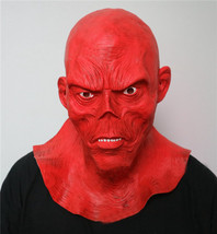 The Avengers Mask Helmet Halloween Cosplay Season Natural Latex Red Skull - $38.08 CAD