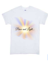 Peace and Light Tee (White Only) - $19.80+