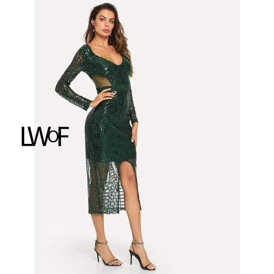 Primary image for Contrast Sequin Zip Back Dress