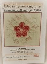 JDR Brazilian Embroidery Kit, Grandma's Flower JDR398 Judy Hill Cream fa... - $9.89