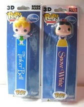 Funko 3-D Bookmarks Snow White & Tinkerbell Lot of 2 New - $16.74