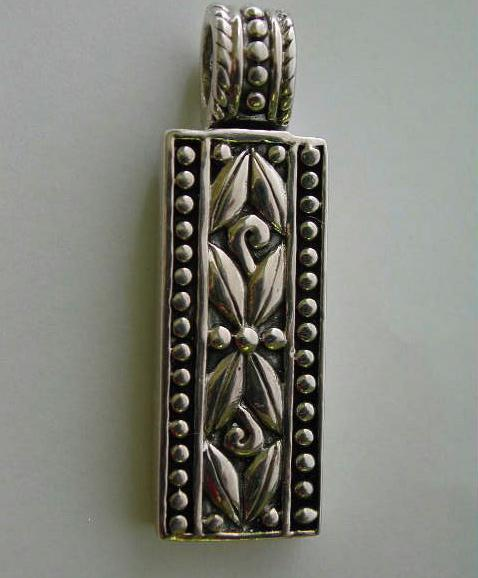 Sterling Silver Pendant Balinese