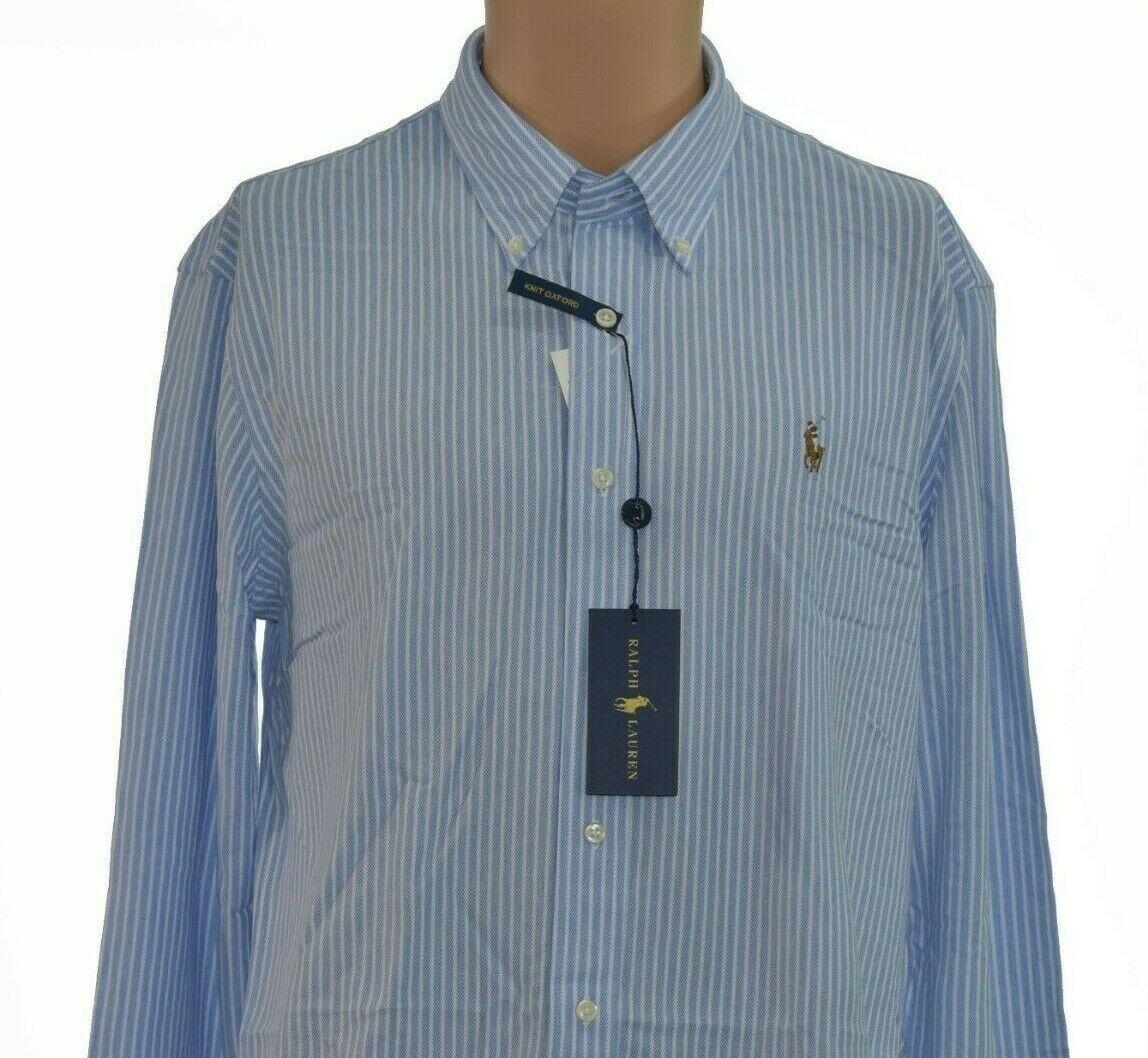 NEW! Ralph Lauren Knit Oxford Mens Sz XL Super Soft L/S Button Front MSRP $98.50 - $86.73 CAD
