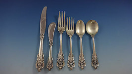 Grande Baroque by Wallace Sterling Silver Flatware Set Service 48 Pieces - $2,895.00