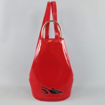 Vintage SALVATORE FERRAGAMO Red Patent Leather Drawstring Bucket Backpack - $326.00