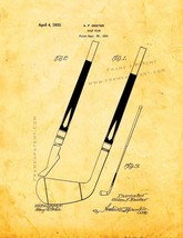 Golf Club Patent Print - Golden Look - $7.95+