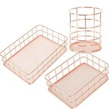 Cosmetic Storage Box Makeup Organizer Desktop Basket Stationery Case Met... - $14.62+
