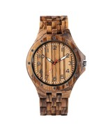 Men's Leisure Wood Watch, Handmade Vintage Analog Quartz Wood Wrist Watc... - £42.99 GBP